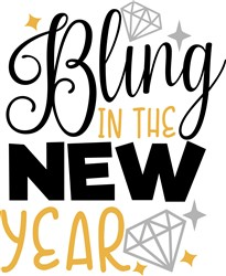 Bling In New Year print art