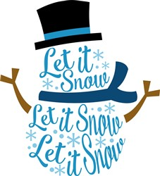 Let It Snow Man print art