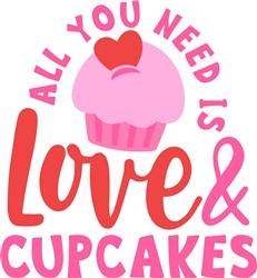 Love & Cupcakes print art