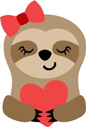 Valentine's Day Sloth print art