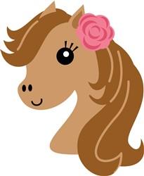 Kawaii Girl Horse Head print art