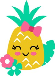 Tropical Pineapple & Flowers print art