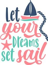 Dreams Setting Sail print art
