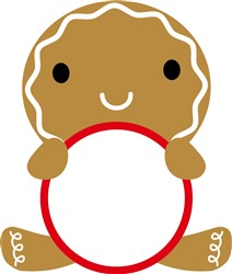Gingerbread Man Monogram Frame print art
