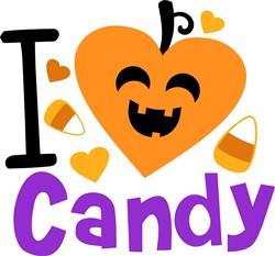 I Love Halloween Candy print art