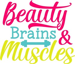 Beauty Brains & Muscle print art