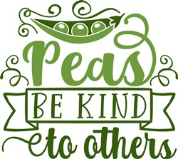Peas Be Kind print art