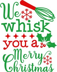 Whisk You A Merry Christmas print art