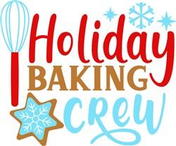Holiday Baking Crew print art