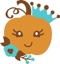 Kawaii Pumpkin Princess print art