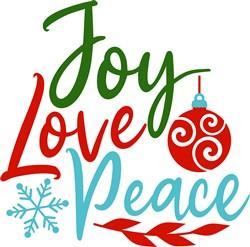 Joy Love Peace print art