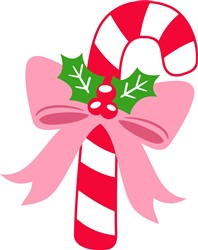 Candy Cane & Bow print art