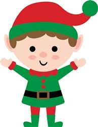 Kawaii Christmas Elf print art