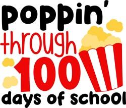 Poppin' Through 100 Days print art