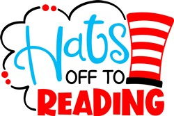 Hats Off to Reading print art