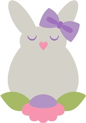 Easter Bunny & Flower print art