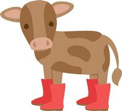 Calf In Rain Boots print art