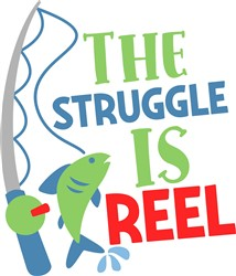 The Struggle Is Reel print art