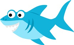 Kawaii Shark print art