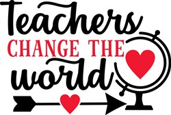 Teachers Change World print art