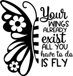 Your Wings Exist print art