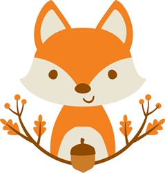 Fox With Branches print art