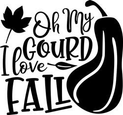 I Love Fall! print art