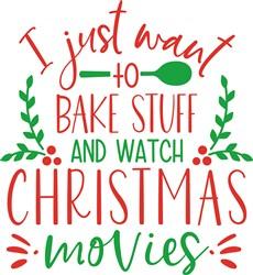Bake & Watch Christmas Movies! print art