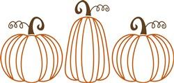 Pumpkin Trio Outline print art