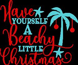 A Beachy Little Christmas print art