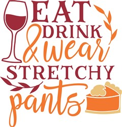 Thanksgiving Stretchy Pants print art