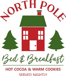 North Pole Bed & Breakfast print art