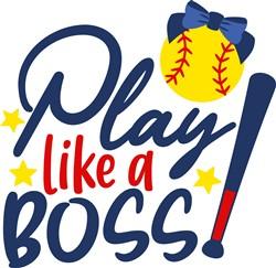 Play Like A Boss print art