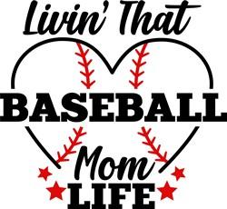 Baseball Mom Life print art
