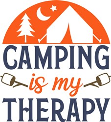 Camping Therapy print art