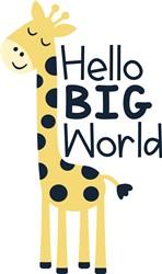 Hello Big World print art