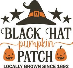 Black Hat Pumpkin Patch print art