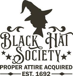 Black Hat Society print art