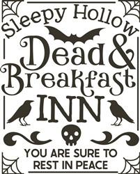 Dead & Breakfast Inn print art