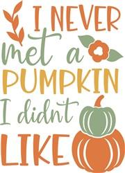 Never Met A Pumpkin print art