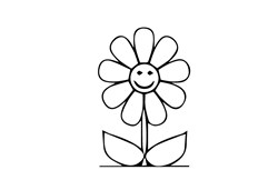Happy Face Flower print art