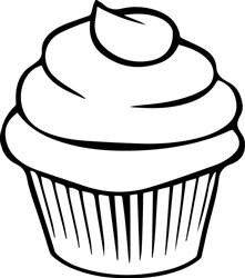 Cupcake Outline print art