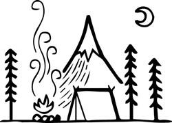 Camp Scene print art