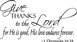 Thanks To The Lord print art