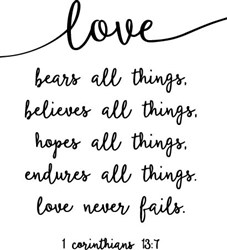 Love Never Fails print art
