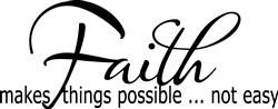 Faith Not Easy print art