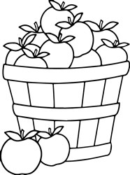 Apple Bushel print art