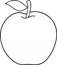 Apple Outline print art