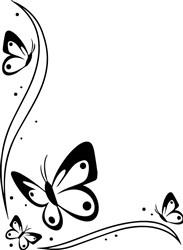 Butterfly Corner print art