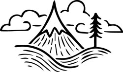 Mountain Outline print art